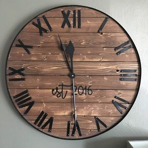 Other - Farmhouse Wooden Wall Clock